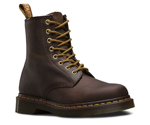 b727033f552cb4 A new leather for an old classic  this iconic 8-eye 1460 boot is made with  Crazy Horse