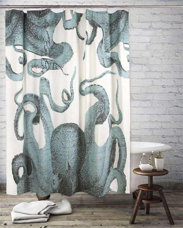 Anchor Shower Curtain / Ink