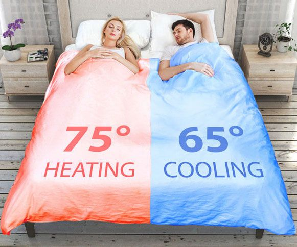 Dual Zone Climate Controlled Smart Duvet Cute Dorm Rooms Cool