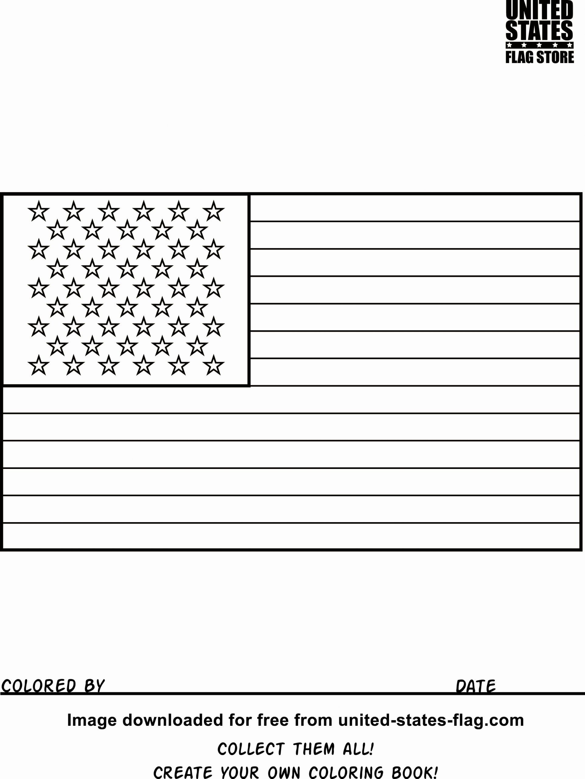 United States Flag Coloring Beautiful Free American Flag Coloring