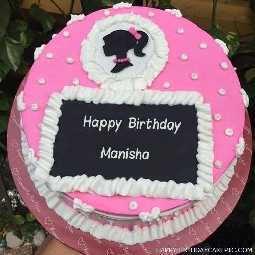 Decorated Strawberry Cake For Manisha Birthday Happy Birthday