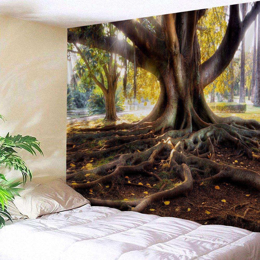 Big Tree Roots Printed Wall Hanging Tapestry Tree roots