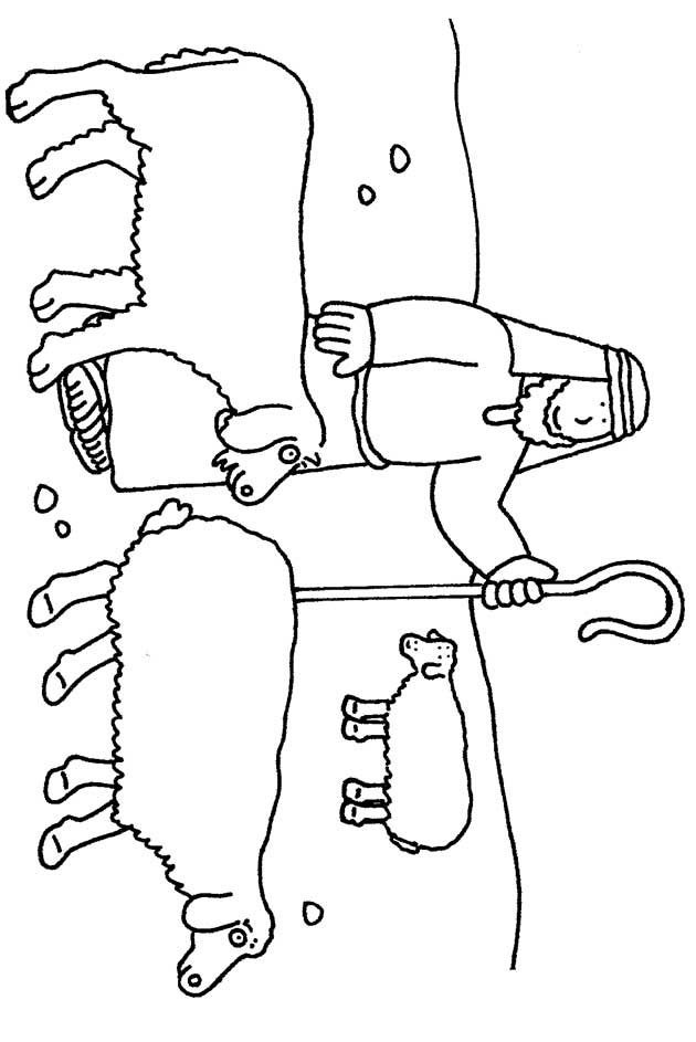 Herders In Het Veld Kerst Kleurplaten Christmas Nativity En