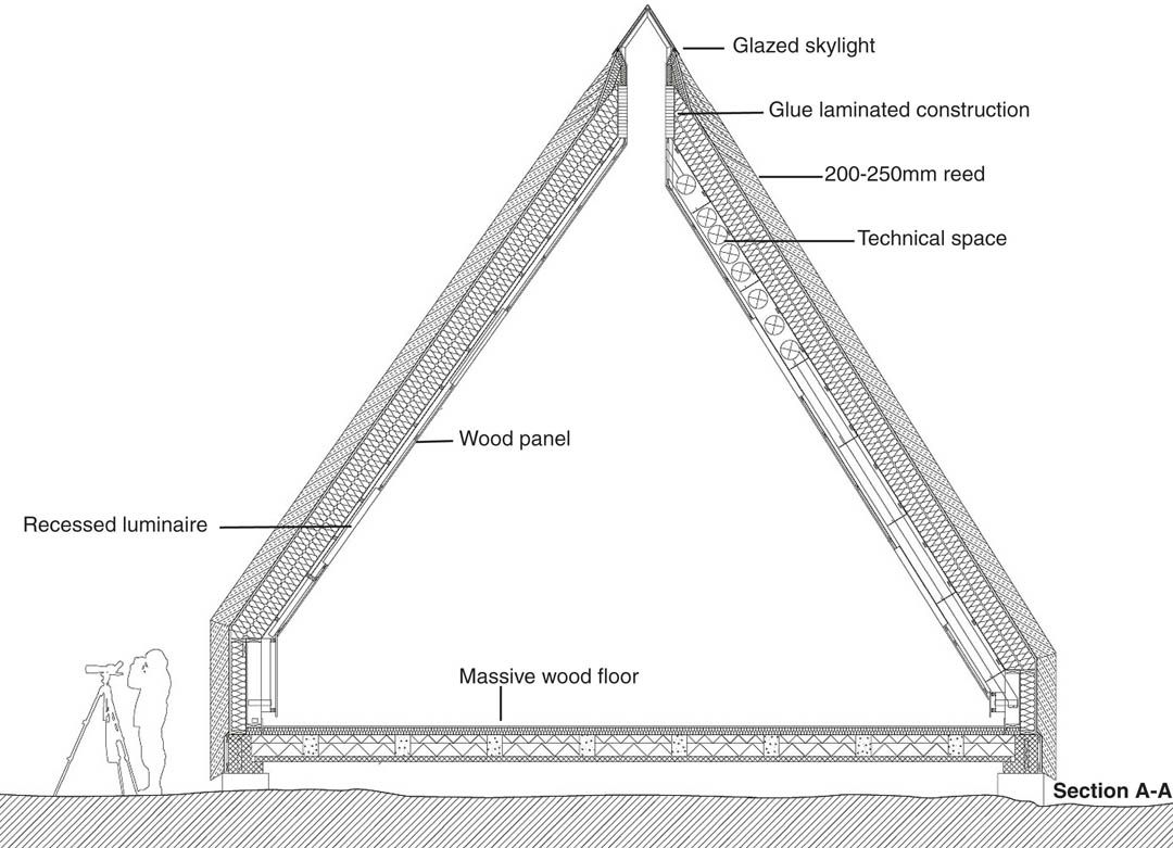 Section Of Reed Roof Construction Wingårdh Architects