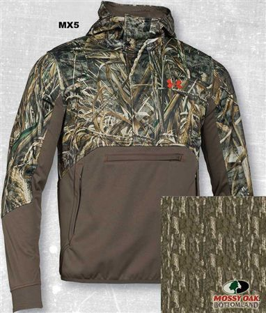 Under Armour Cold Gear Hoodie Mossy Oak Camo Lg drake banded waterfowl hunting
