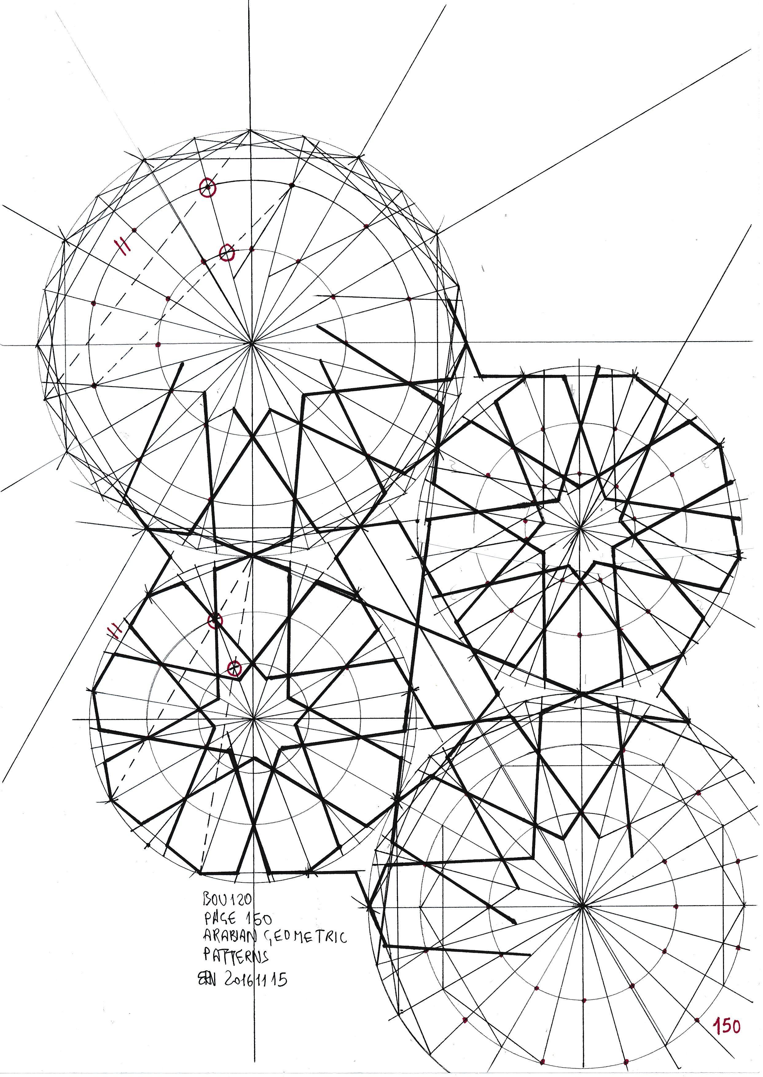 Geometric Circle Patterns Custom Decorating Ideas