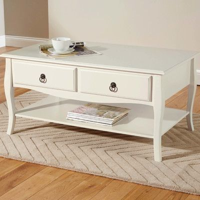 Hazelwood Home Pippa Coffee Table Reviews Wayfair Uk Shabby Chic Coffee Table Coffee Table Elegant Furniture