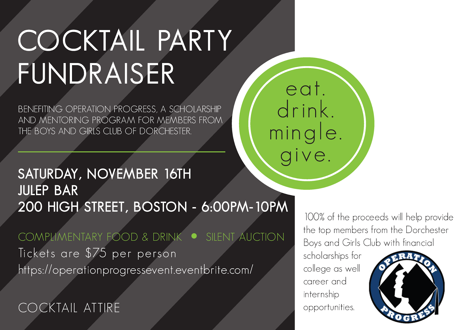 Hobart And Haven Design For Cause Cocktail Party Fundraiser