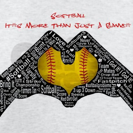9f38f40d Softball - It's More Than Just A Game! Light T-Shirt | Softball ...