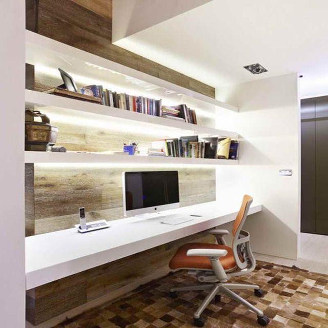 Les tag res en tant que mobilier de bureau cr atif mobilier de bureau bur - Bureau sur mesure ikea ...