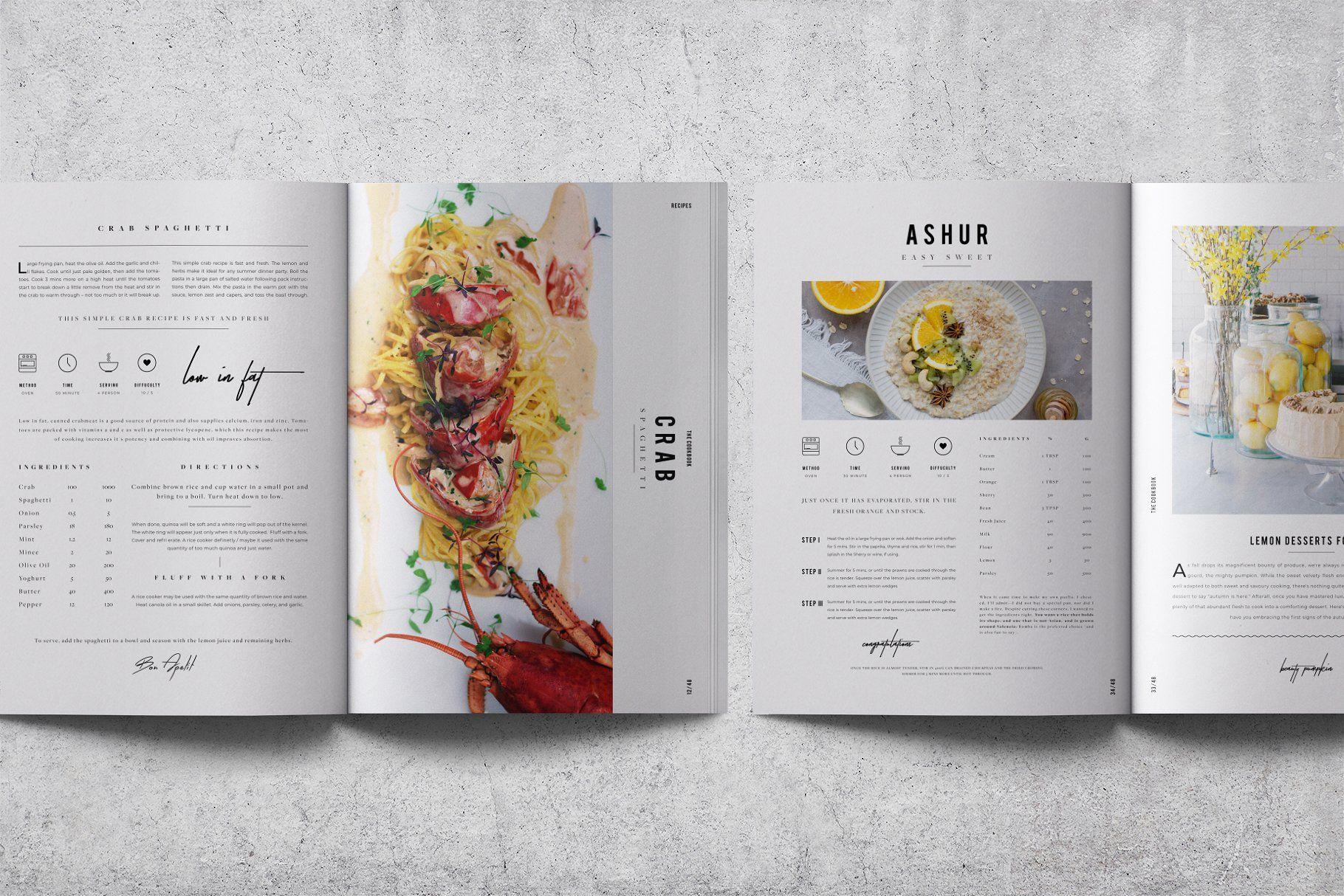 Cookbook Recipe Book V 02 Recipe Book Design Cookbook Design Cookbook Template
