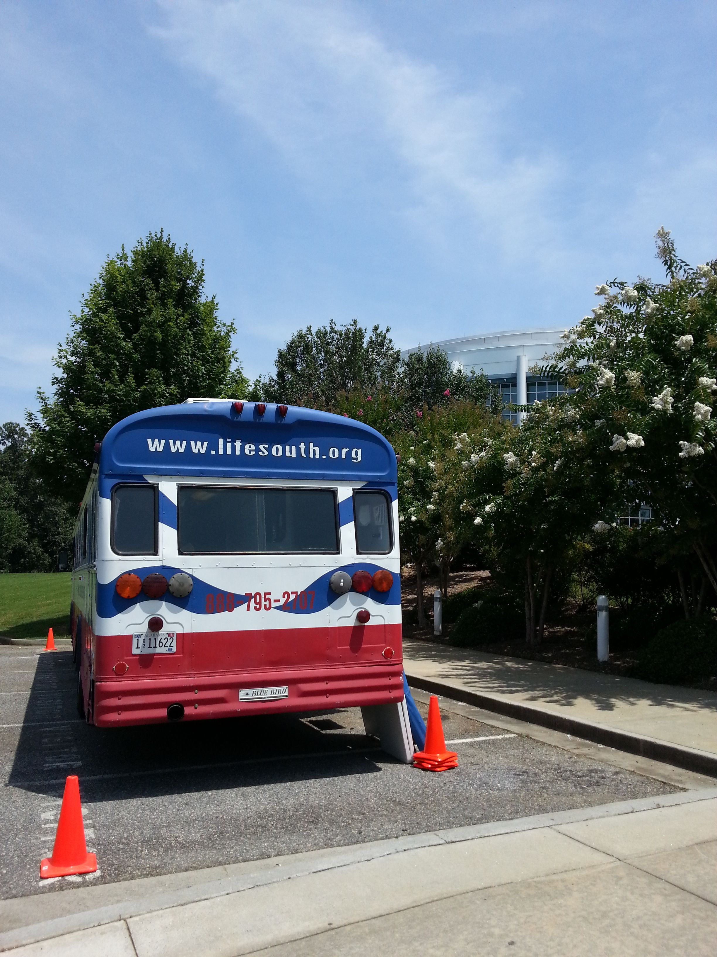 LifeSouth brought their Bloodmobile today for a Lanier