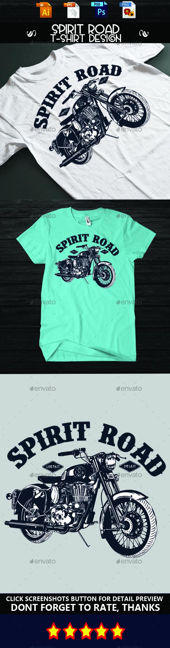 Shirt design eps - Spirit Road T Shirt Design