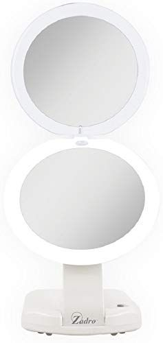 New Zadro Led Lighted Ultimate Make Up Mirror 1x 10x