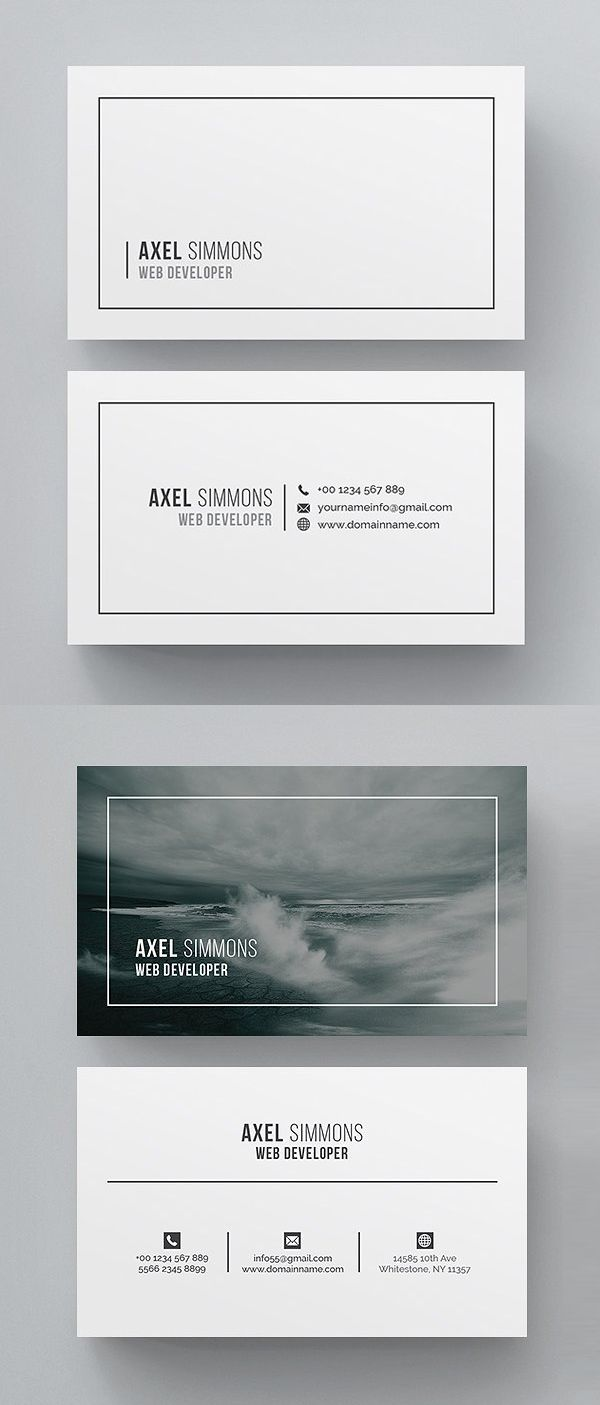 Simple Clean Business Card Template Ci Card Kreative