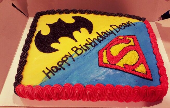 Batman Vs Superman Cake With Images Superman Birthday Party