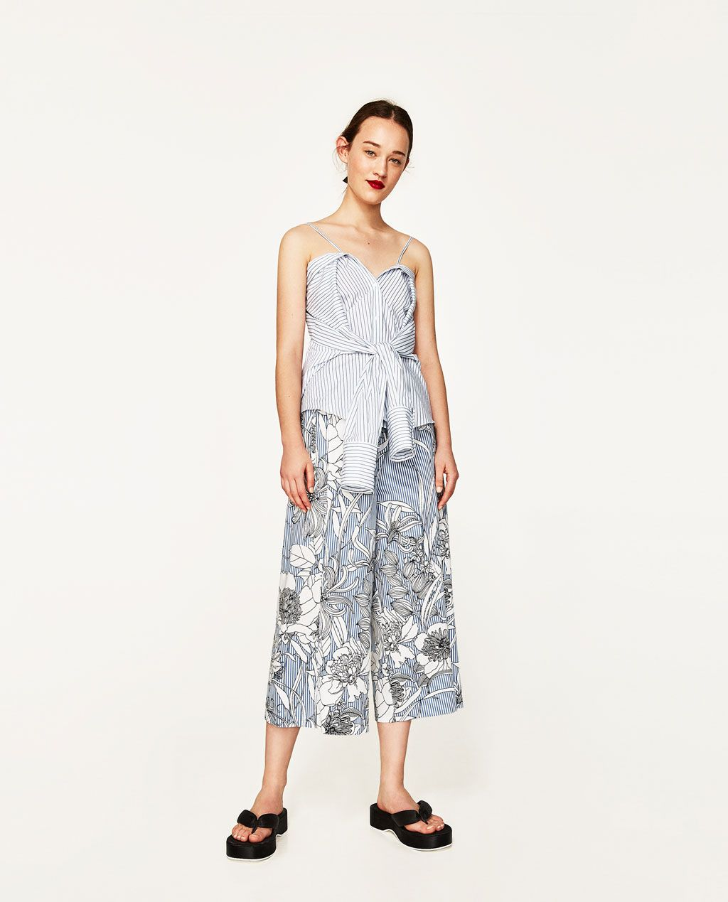 61275d6b447 Image 1 of PRINTED CULOTTES from Zara