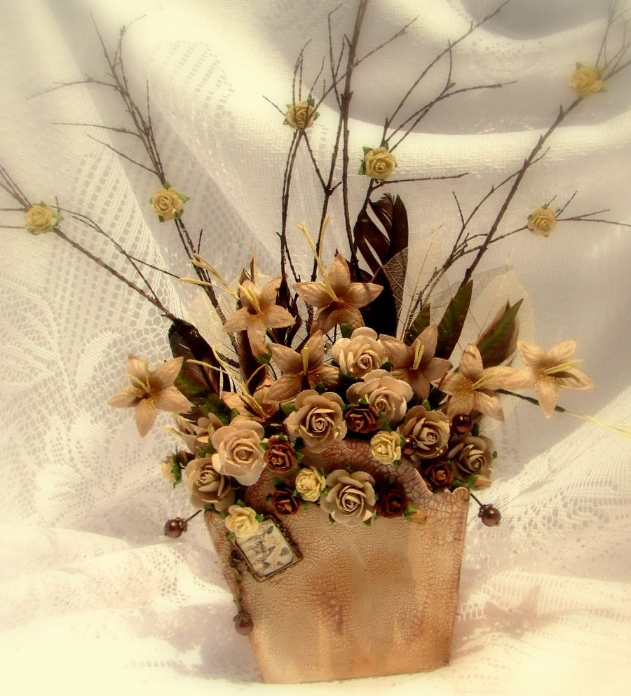 Bouquet of Flowers - one that will last!  All flowers and charms are available from www.my2angels.net