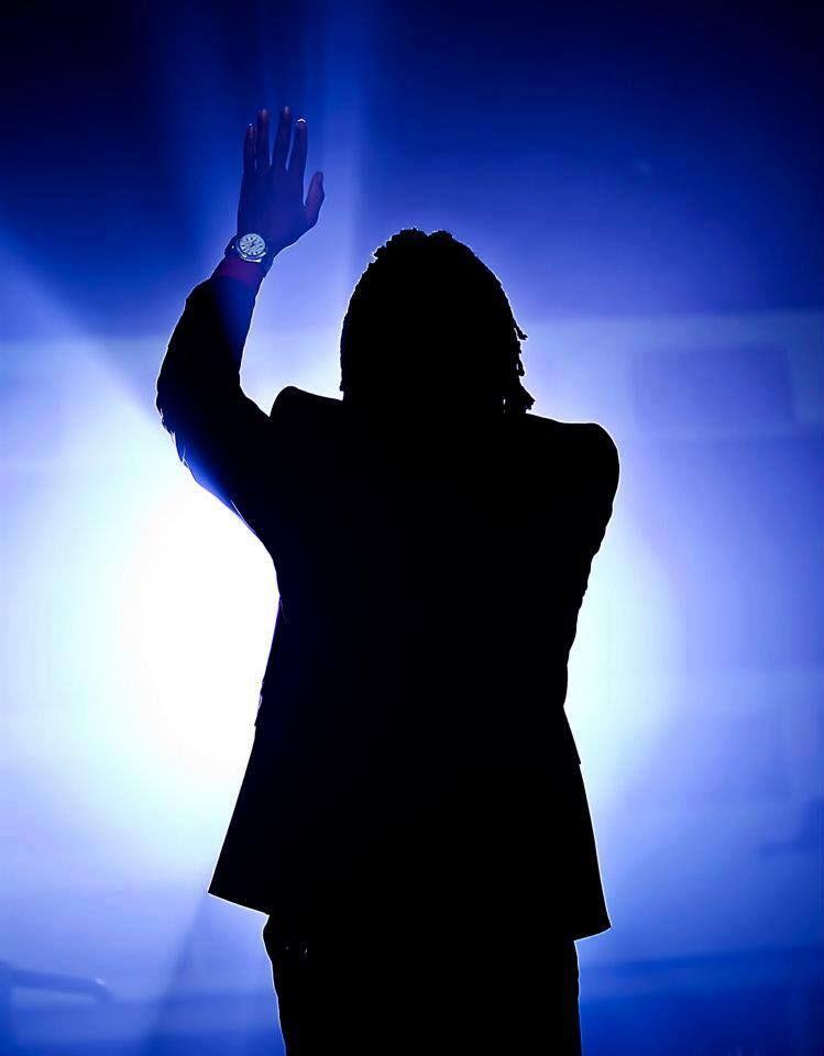 Michael Tait worshiping his Maker.