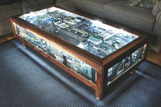 Coffee Table That S Entirely Made Up Of Computer Parts
