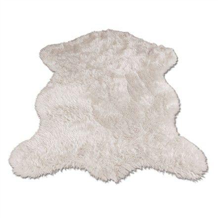 White Polar Bear Pelt Rug / $48