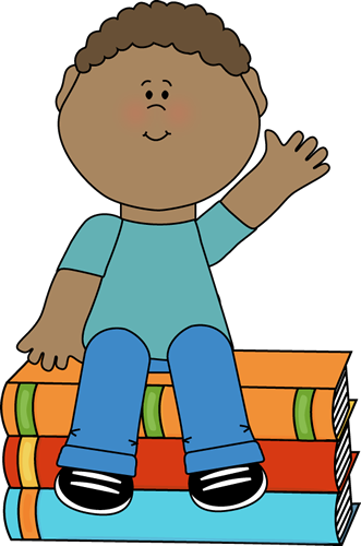 boy sitting on books and waving clip art boy sitting on books and rh pinterest co uk Kitchen Play Area Preschool Kitchen Play Area