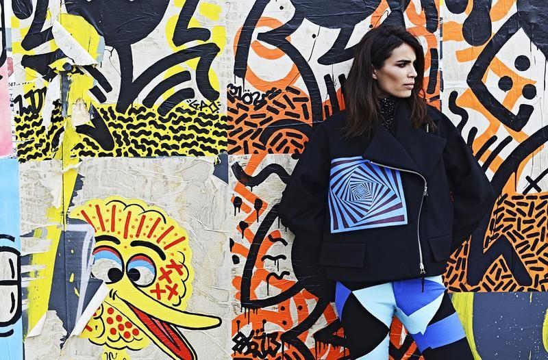 HARPER'S BAZAAR INDIA - Nov 2014 Gianluca Santoro (Photographer) Ernesto Montenovo (Hair Stylist) Terry Barber (Makeup Artist) Model Marie Meyer Dries Van Noten fall 2014 jacket