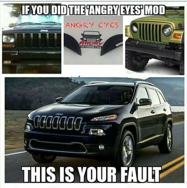 Angry Eyes Angry Eyes Jeep Humor
