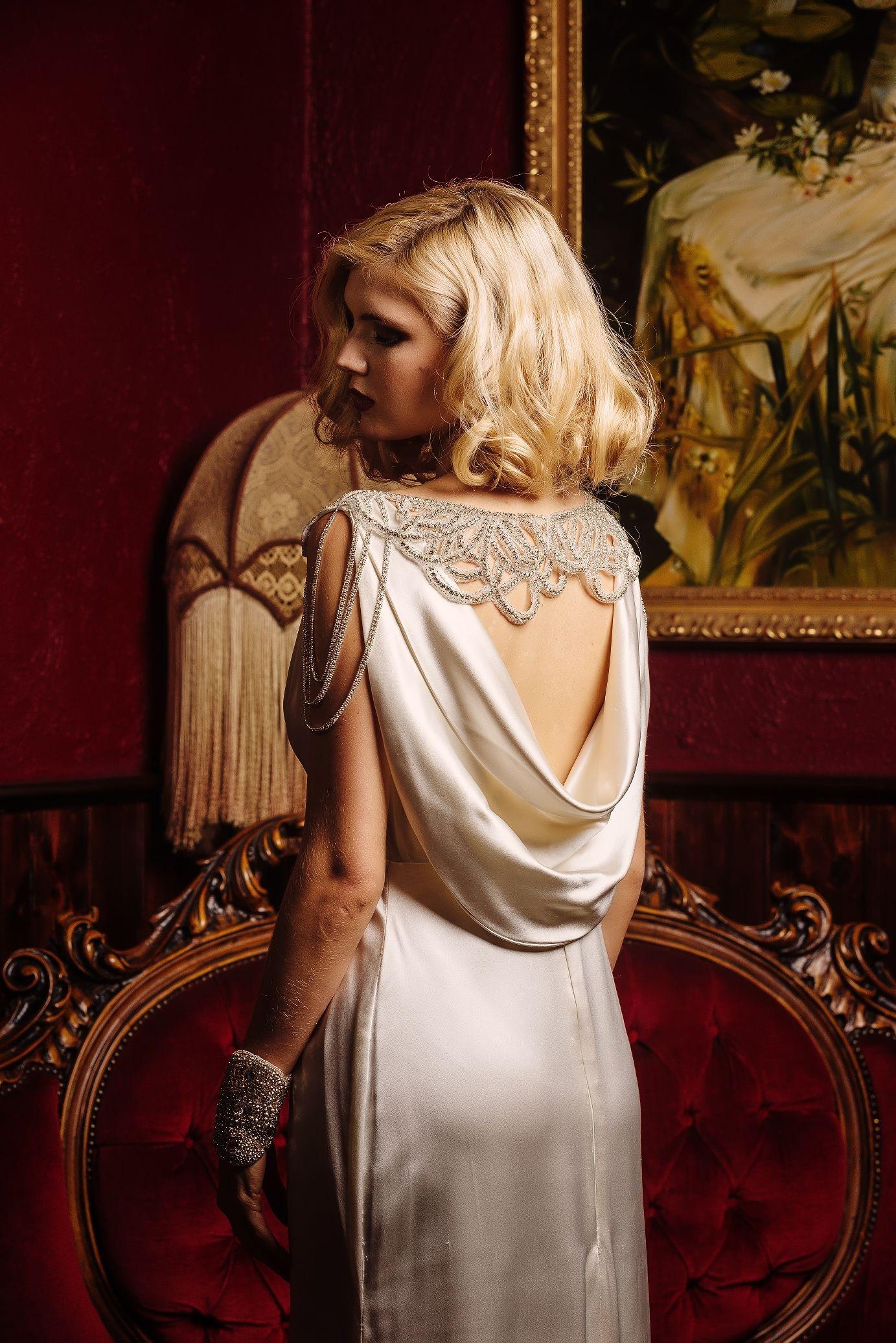 Hollywood Glamour Style Wedding Dresses : Glamorous old hollywood bridal shoot with cathleen jia wedding dresses
