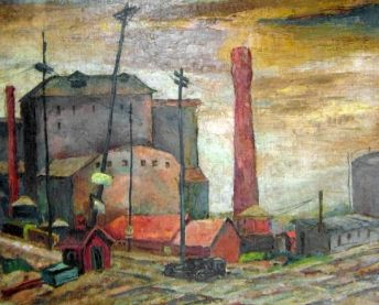 South Chicago (City Landscape), Todros Geller, 1946, Spertus Collection, http://www.spertus.edu/programs-events/uncovered-rediscovered-ch-7