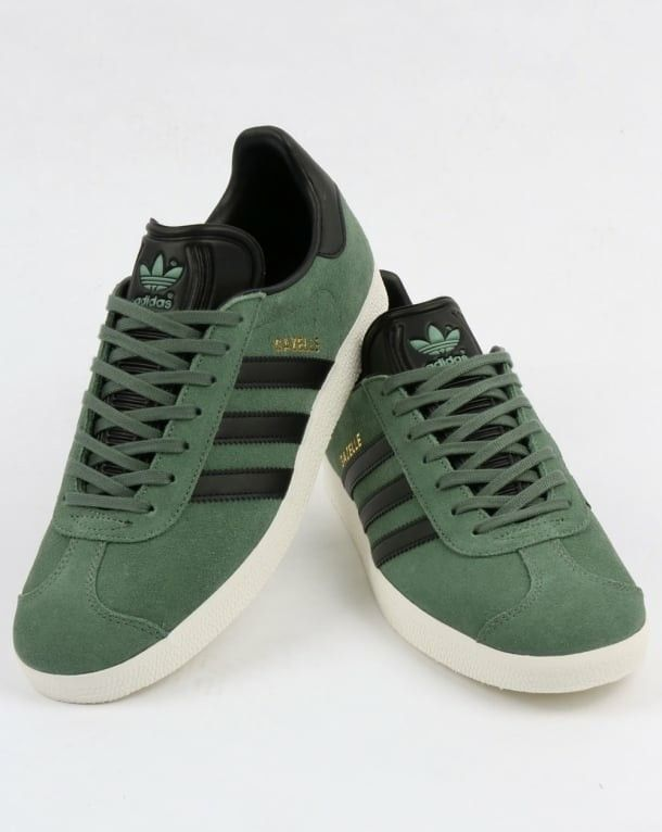 new product 7cd8e 3accb New Gazelle colourway in trace green with black  trim Adidas Og, Black
