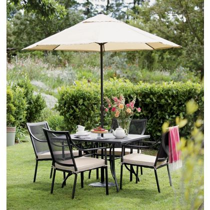 Garden Furniture 4 Seater rimini metal 4 seater garden furniture set - collect in store