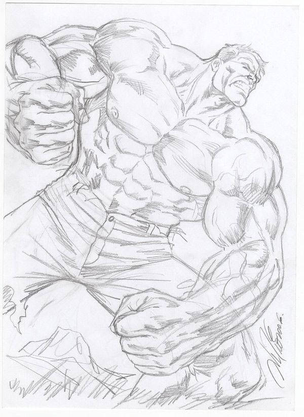 Incredible Hulk prelim by Al Rio by AlRioArt