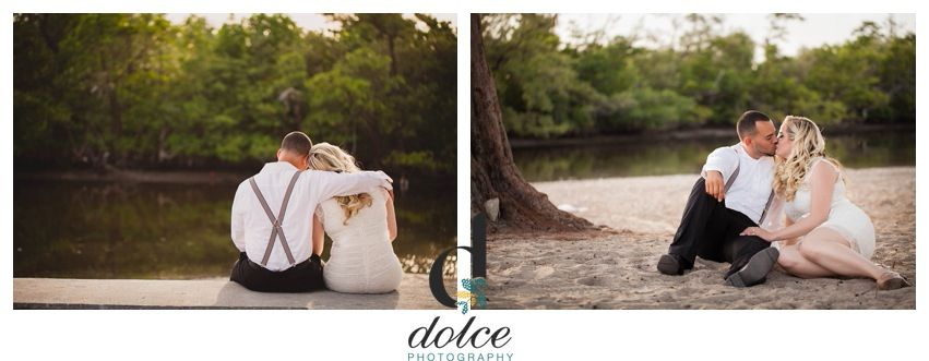 Vintage beach engagement session Dolce Photography, Miami FL www.dolcephotos.com