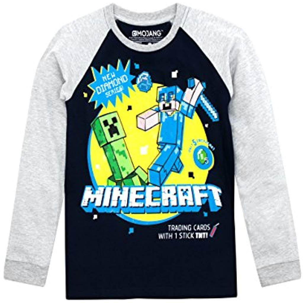 Minecraft Maglietta a Maniche Corta per Ragazze