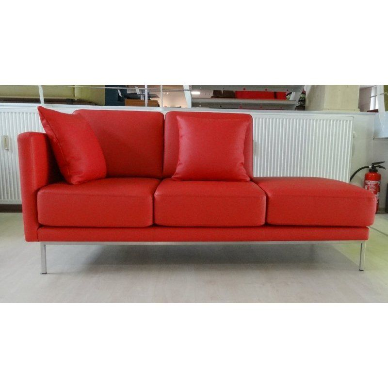 Cannes Ottomane Recamiere in Leder rot Liege Pinterest Cannes