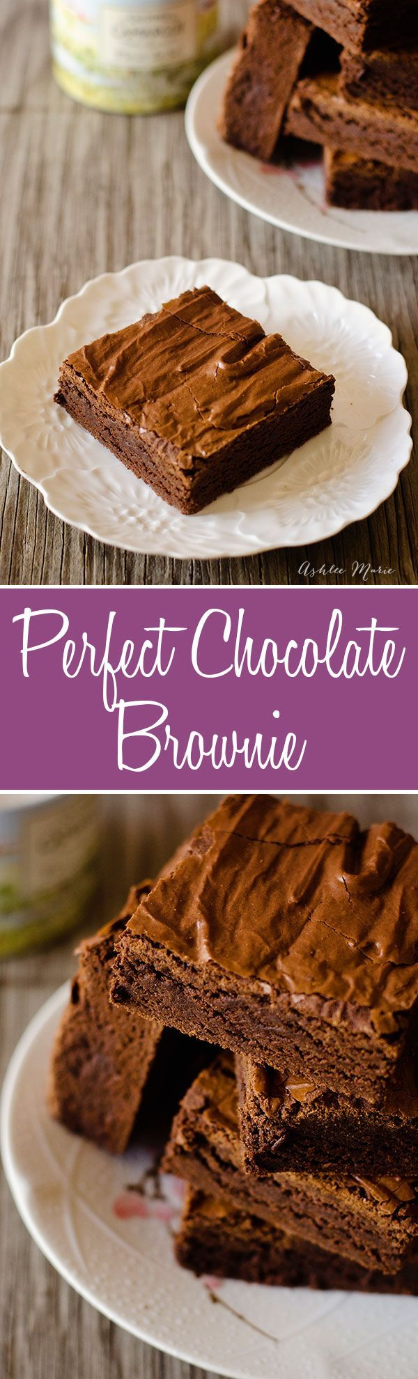 the perfect chocolate brownie recipe, great flavor and texture and easy to make