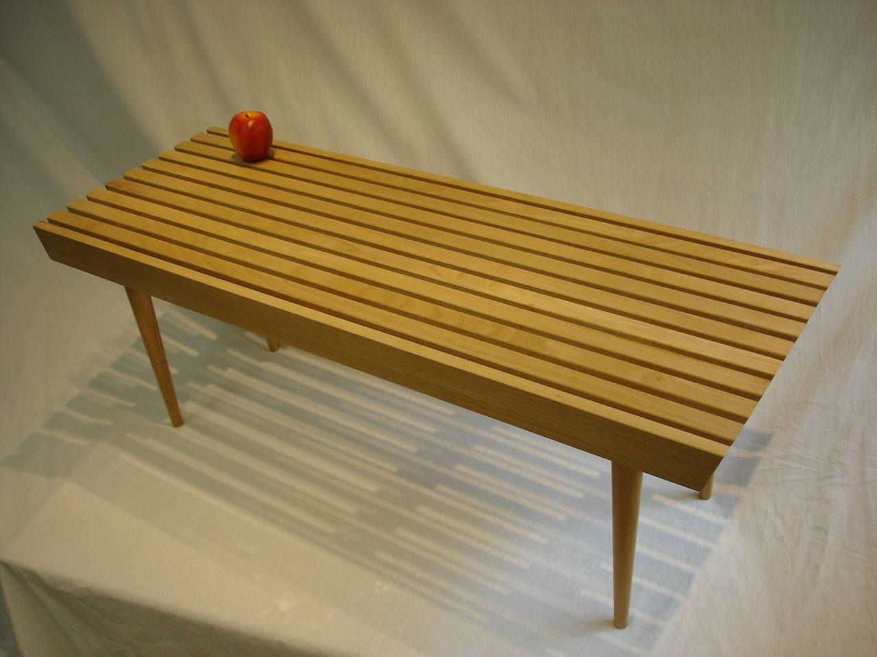 Birch coffee table mid century modern fresh out of the barn two