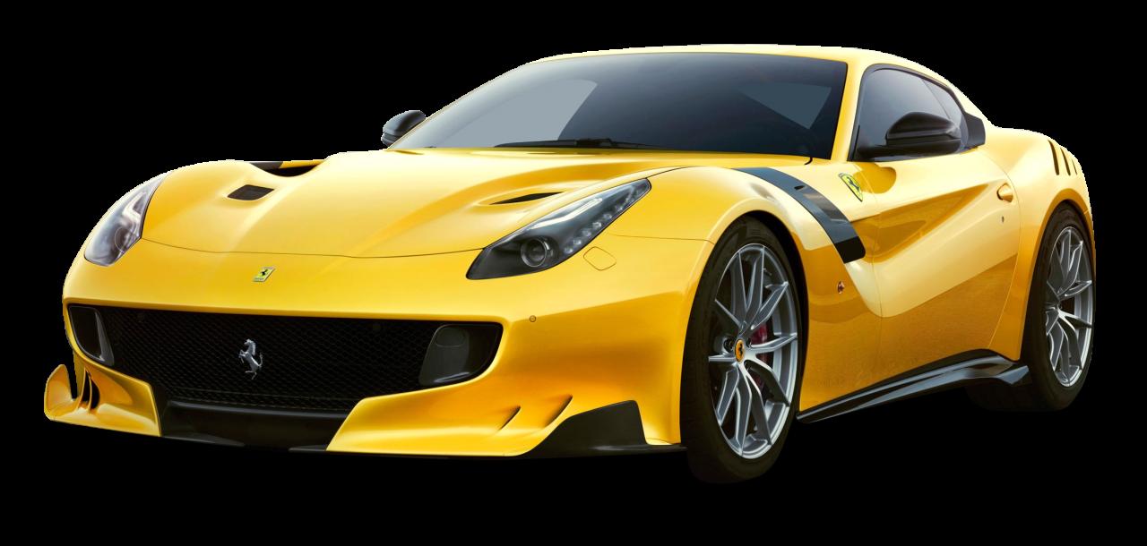Yellow Ferrari F12tdf Car Png Image Ferrari Car Png