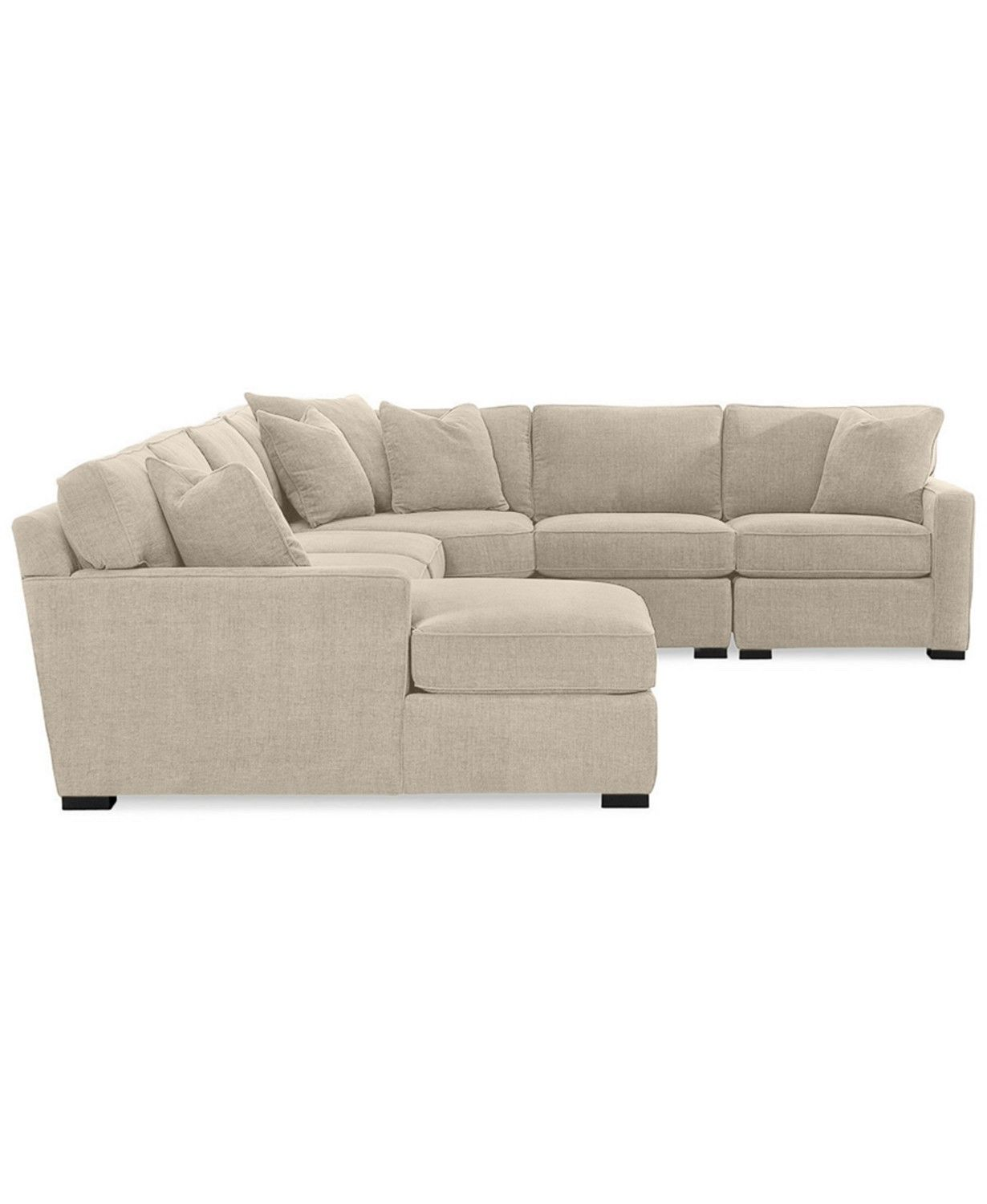 Best Furniture Radley 5 Piece Fabric Chaise Sectional Sofa 400 x 300
