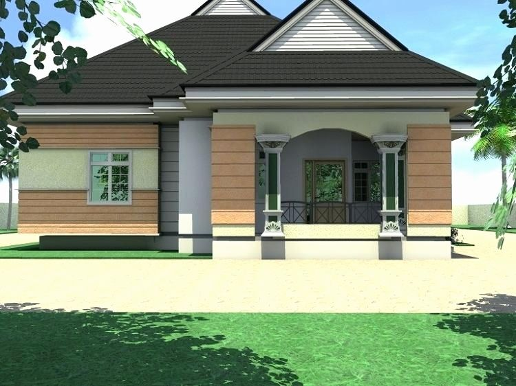 Bungalow Designs In Nigeria 4 Bedroom Bungalow Architectural Design In Nigeria Bungalow Design Beautiful House Plans Model House Plan