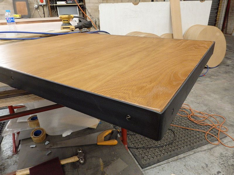 32 - Raw Steel Edge Band around Oak Table Top in 2019 | Projects to