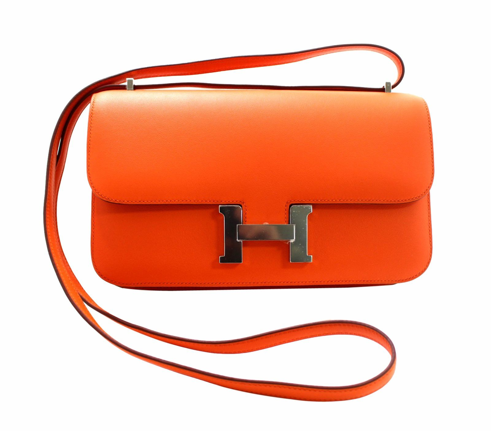 australia hermes constance crocodile smooth bags black people desomorphine  42b0e 79b56  best hermès orange swift leather constance elan a truly  classic ... 564b0742ed555