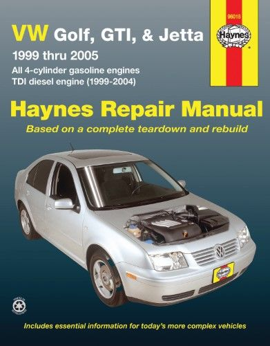 haynes repair manual for vw golf jetta number 96018 repair manuals rh pinterest com vw golf 4 service and repair manual vw golf iv 1.4 16v service manual