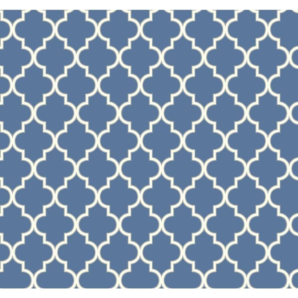 York Wallcoverings Waverly Cottage Buzzing Around Trellis Wallpaper Er8194 The Home Depot Royal Blue Wallpaper Trellis Wallpaper Beach Wall Murals