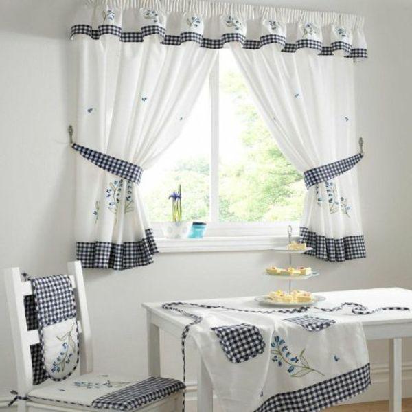 küche gardinen weiß hell frisch | einrichtung | pinterest ... - Küche Vorhang