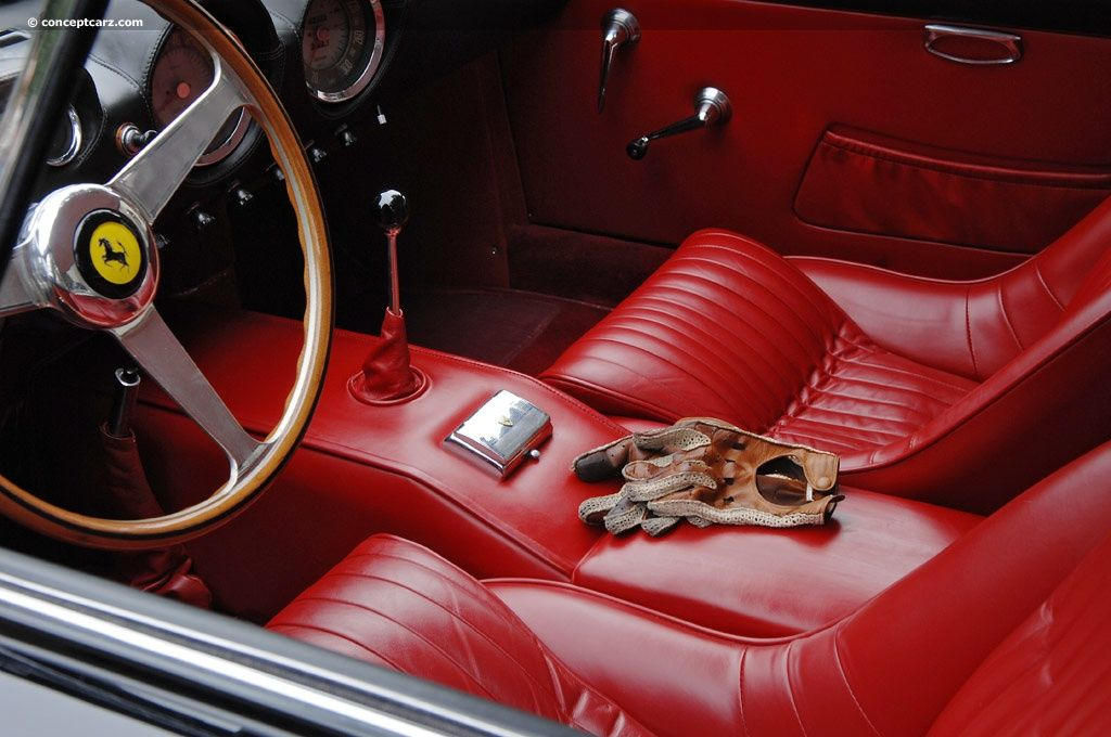 1963 Ferrari 250 Gt Lusso With Red Leather Interior Driving Gloves Ferrari Retro Cars Cars