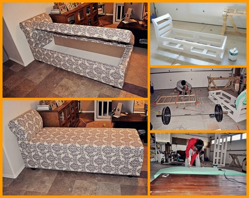 Hereu0027s A Great Project For Those Of You Who Need A Chaise Lounge And Extra  Storage