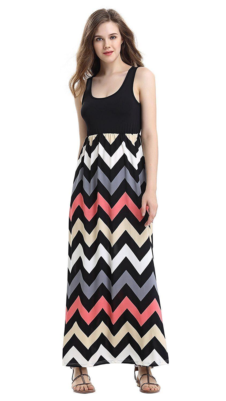 Demetory Women S Striped Casual Maxi Dress [ 1500 x 844 Pixel ]