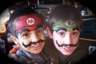 Mario Amp Luigi Fast Face Paint Ideas Face Painting For